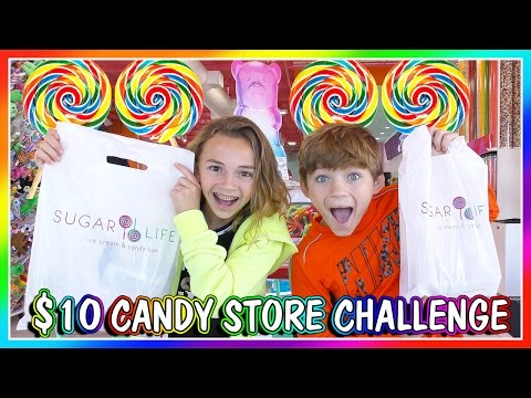 10 DOLLAR CANDY STORE CHALLENGE | We Are The Davises