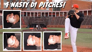 4 BASEBALL PITCHES Tнat Get D1 Hitters Out! [Baseball Pitching Grips w/ TBC & Tyler Blohm]