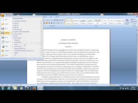 How To Convert A Word Document To PDF For Free (Word 2007 & 2010, Windows 7)