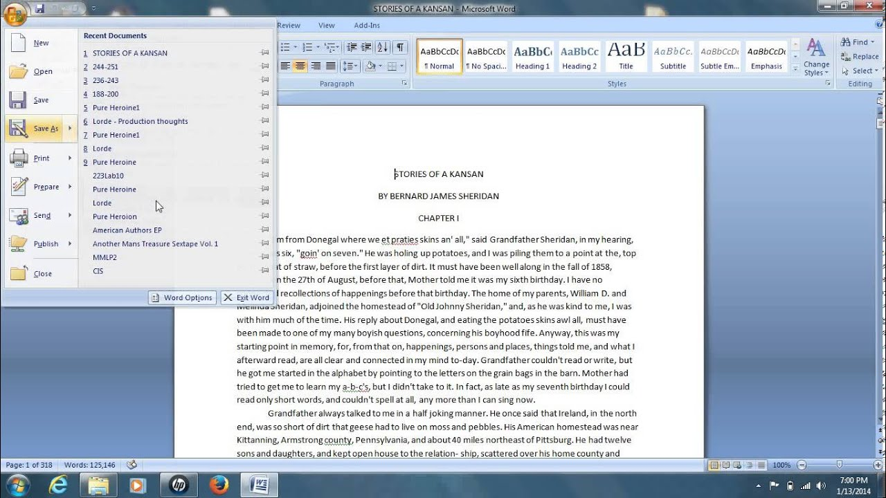 How To Convert A Word Document To Pdf For Free Word 2007 2010