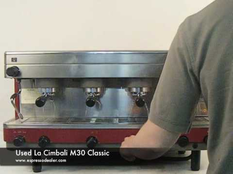 used la cimbali m30 classic espresso machine youtube. Black Bedroom Furniture Sets. Home Design Ideas