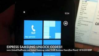 How to Unlock Samsung Focus i917 with Code + Full Unlocking Tutorial!! at&t tmobile o2 rogers bell