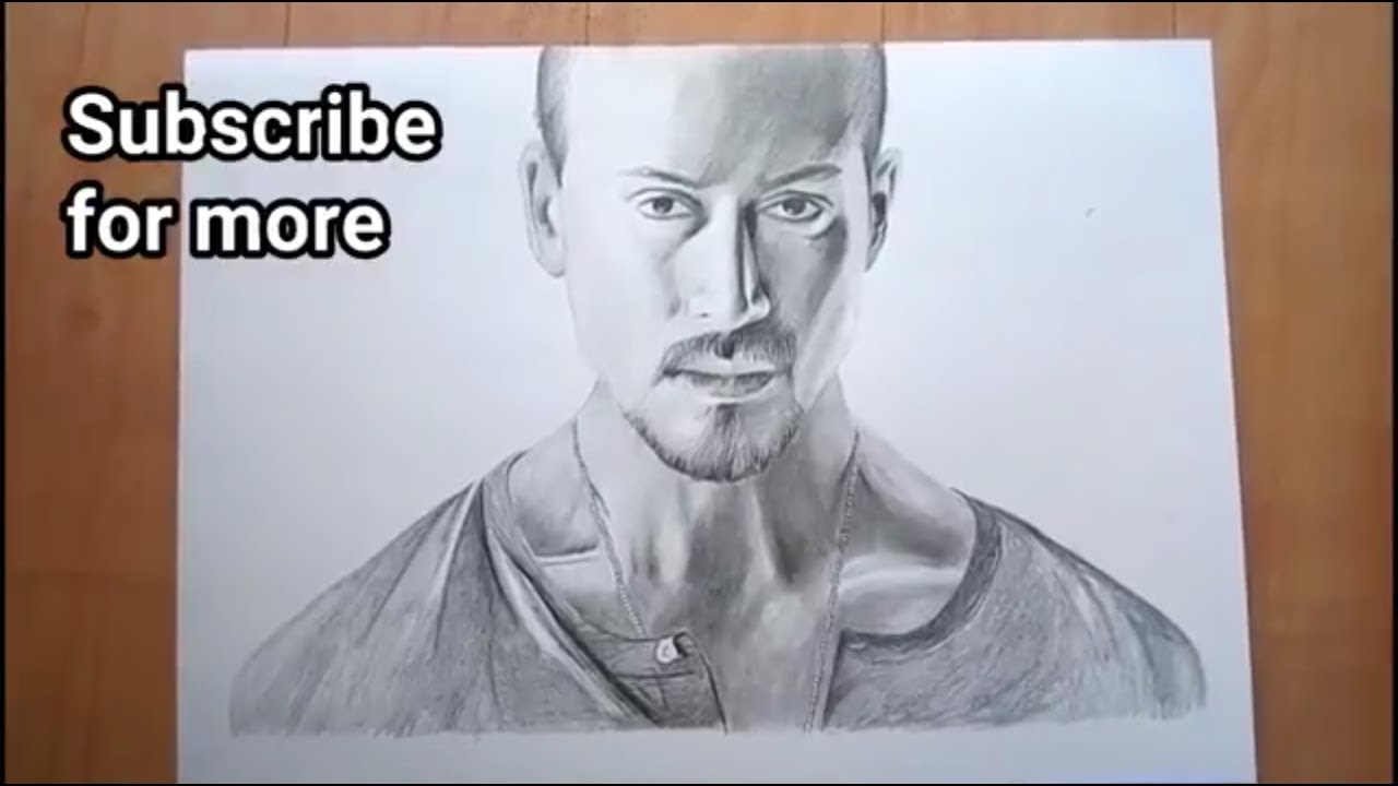 Baaghi 2 Tiger Shroff Easy Drawing Step By Step Youtube