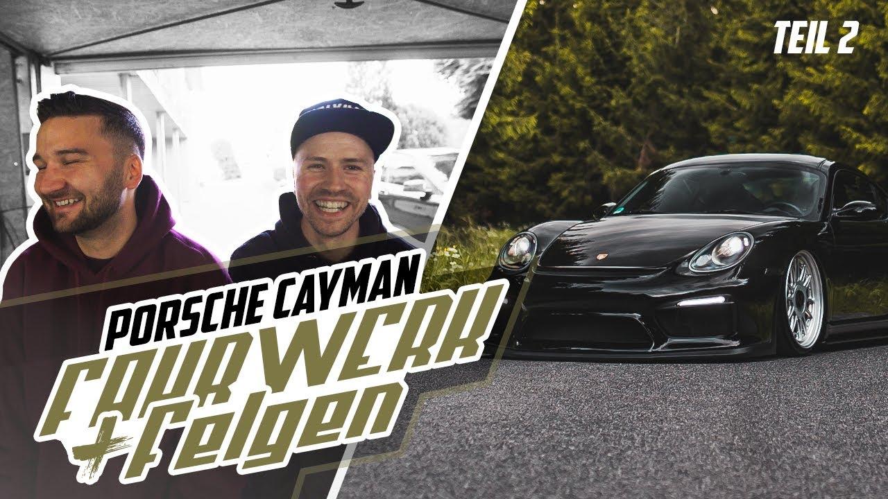 HOLYHALL | PORSCHE CAYMAN | FAHRWERK + FELGEN ! TEIL2