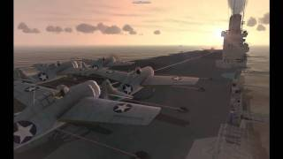 IL2 Pacific Fighters carrier attack (cinematic)