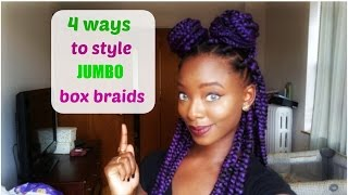 4 quick and easy styles for jumbo box braids