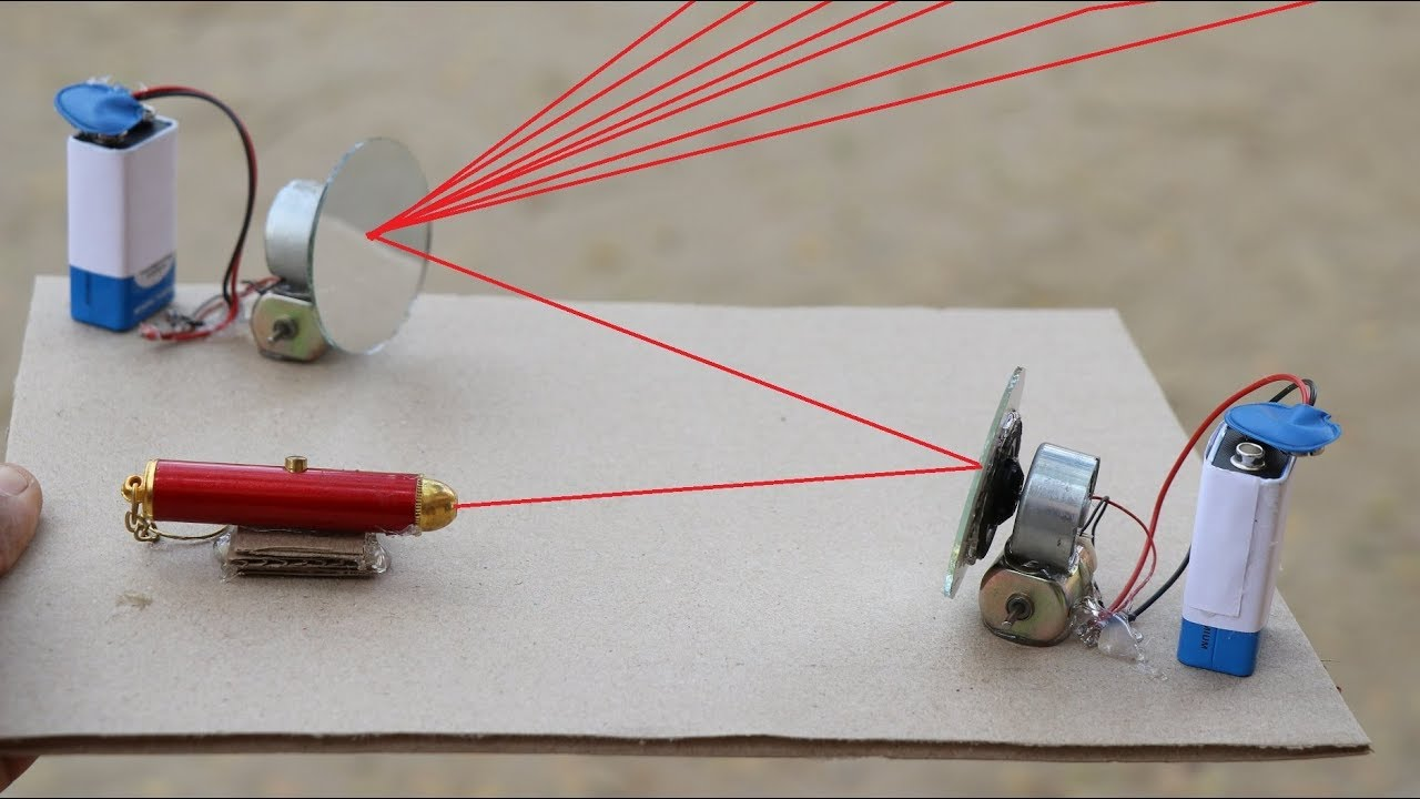 how to make laser light projector