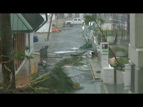 Puerto Rico goes dark after Hurricane Maria