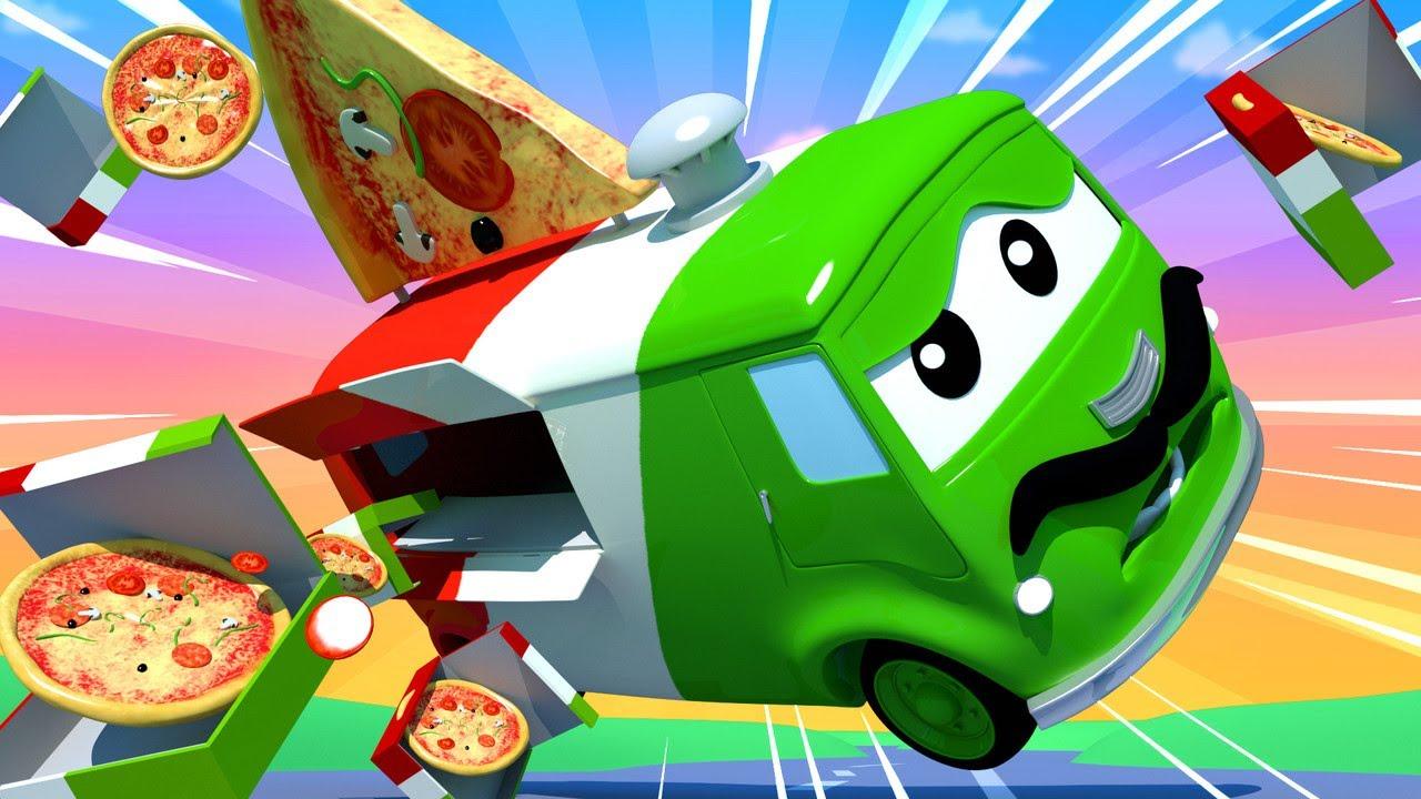 Xe tải kéo Tom -  Carlo thợ làm bánh Pizza - Thành phố xe