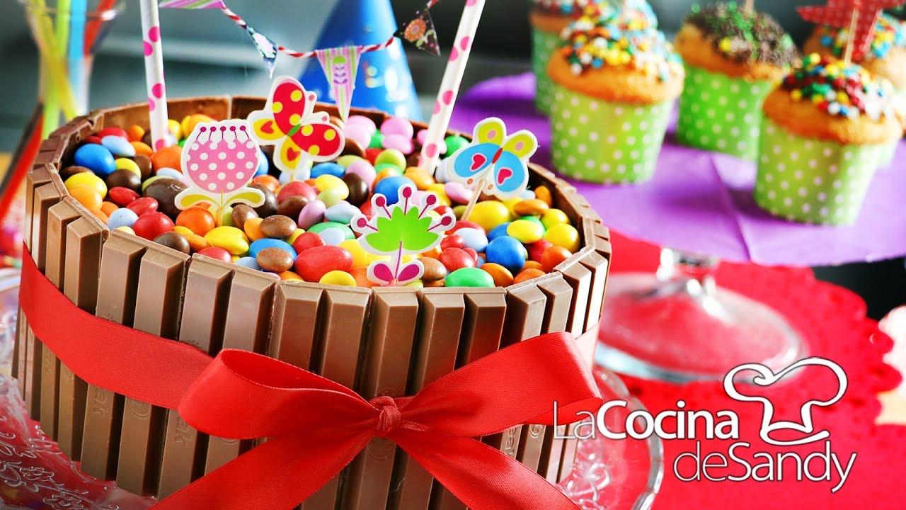 Torta de cumplea os de m m y kitkat en recetas faciles para ni os youtube - Comidas para cumpleanos en casa ...