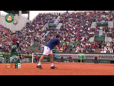 Roland Garros 2014 Wednesday Highlights Federer Schwartzman