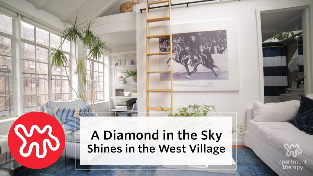 House Tour: A West Village Apartment Shines Like A Diamond - YouTube