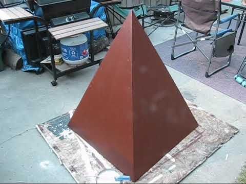 Pyramid Build Home Made out of Plywood