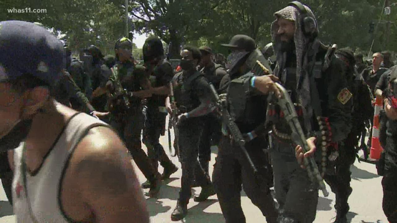 3 members of armed militia injured in shooting at Breonna Taylor ...