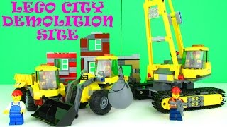 Lego City Demolition Site 60076 Playset Fun Toy Review & Unboxing, New 2015 Set