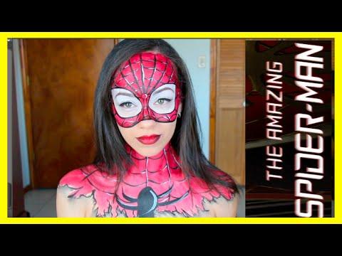 Spider,Man Maquillaje del Hombre Araña!