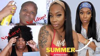 🥵 $80 Yaki Straight Natural Hair Wig 🚫 NO Lace! NO Glue! NO Lifting! Save the Edges! | OmgHerHair