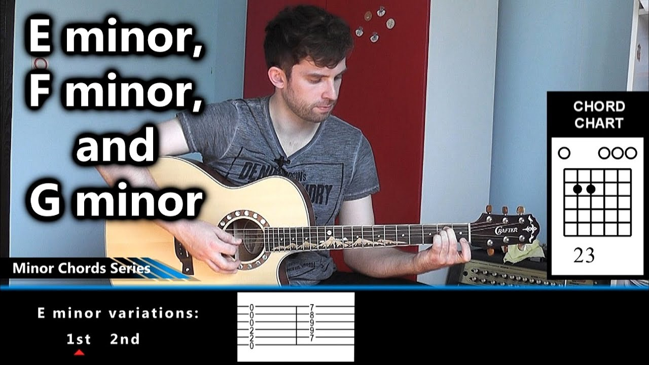 How to play e minor f minor and g minor on guitar youtube how to play e minor f minor and g minor on guitar hexwebz Choice Image