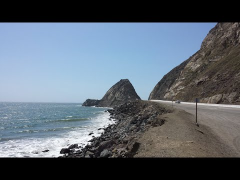 MAN DRIVES PACIFIC COAST HIGHWAY