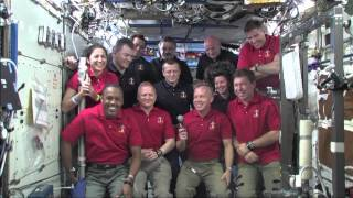 Discovery 133 - Flight Day 8 - President Obama Calls