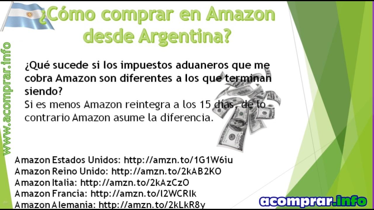 como comprar en amazon argentina 2019