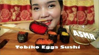 ASMR Tobiko Eggs Sushi - Eating sounds - NYNY-ASMR