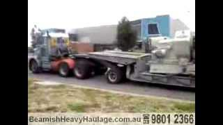 Beamish Heavy Haulage Dolly Loads Engineering Machines