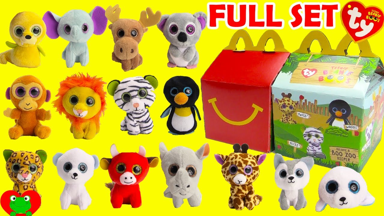 2017 Teenie Beanie Boo s McDonald s Happy Meal Toys Full Set - YouTube bb92d460db0