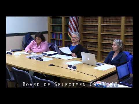 Board of Selectmen 09.10.18