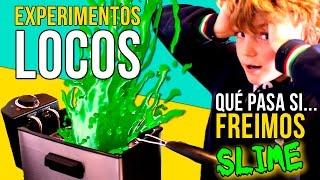 ¿QUÉ PASA si FRIES Slime?? ¡¡Mira lo que OCURRE!! 🙀 EXPERIMENTOS caseros LOCOS con Moco o Slime 🙀