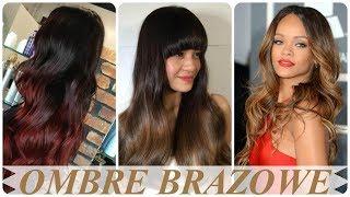 Nowoczesne fryzury ombre na brązowych włosach