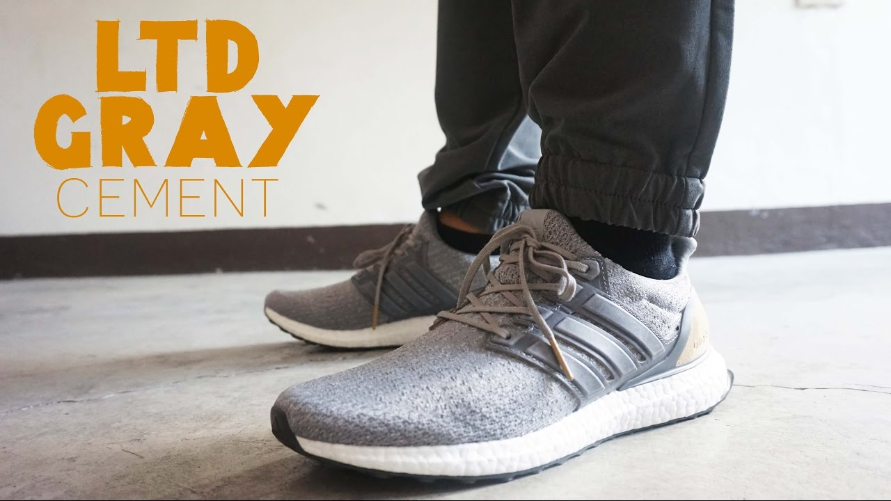 3755b58b2 ... purchase adidas ultraboost ltd leather cage gray on feet and review  35f1e 8bd55
