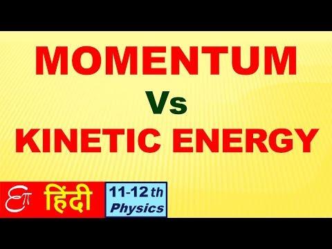 🔴 MOMENTUM vs KINETIC ENERGY    in HINDI