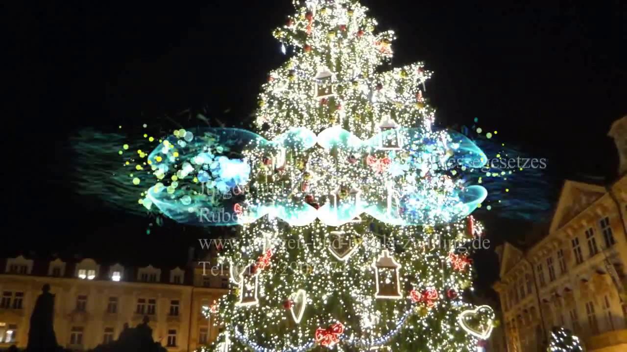 Foto Weihnachtsbaum.Weihnachtsbaum Ouverture Weihnachtsmarkt In Prag Tschechien