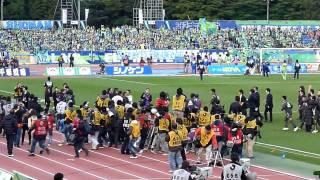2010J1リーグ第31節:湘南ベルマーレvs名古屋グランパス 試合終了後の様...