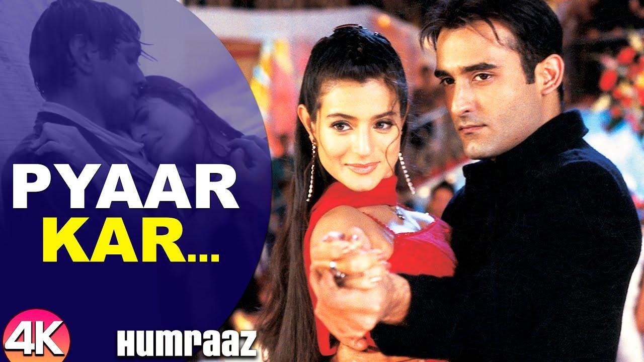 Download Pyaar Kar Ikrar Kar - 4K Video | Bobby Deol, Amisha Patel & Akshaye Khanna | Humraaz | Hindi Songs