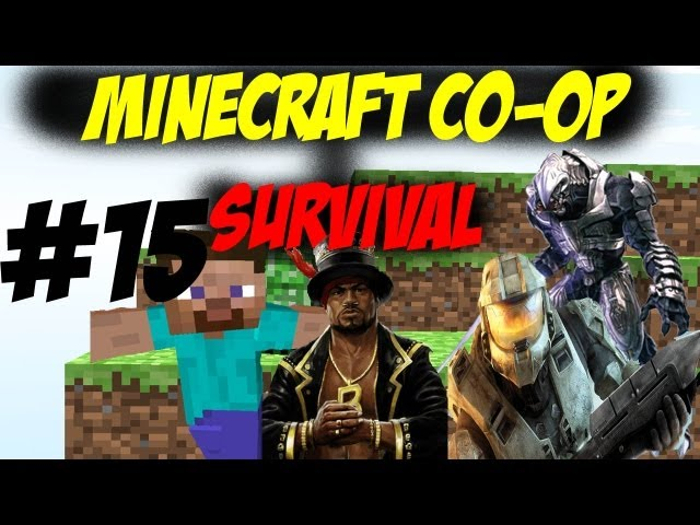 Minecraft Co-op Survival 15 - My Voice is Back! - Starting the Train Station
