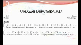 Pahlawan Tanpa Tanda Jasa - Himne Guru | SATB – Teks Kor Lagu Nasional Not Angka