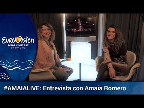**AMAIA** en directo en Eurovisión TVE   Eurovisión 2018