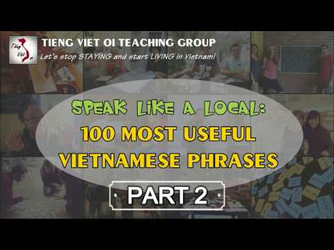 Learn Vietnamese with TVO   100 Most Useful Phrases - Part 2