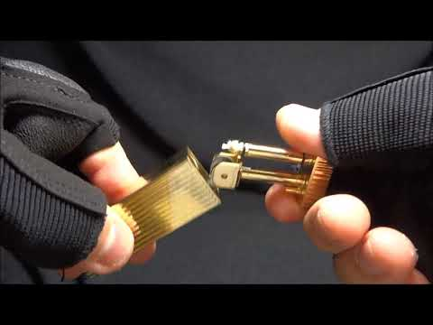 brass Pull Ignition lighter groove