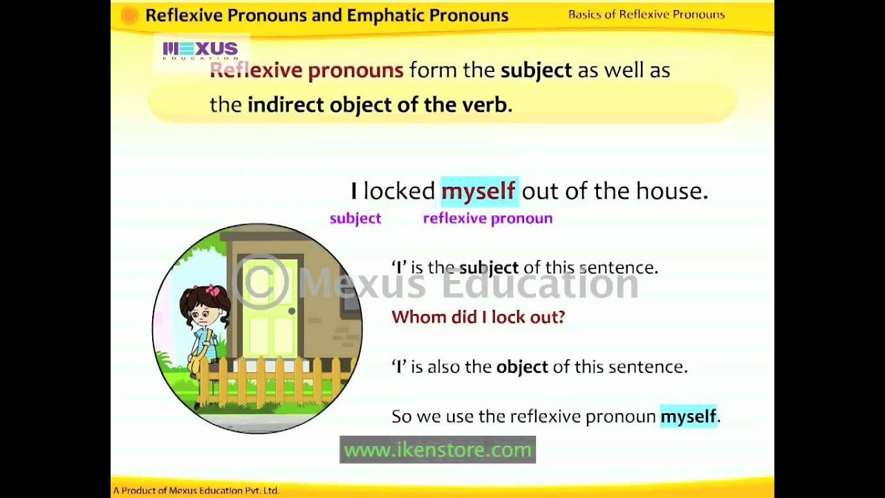 hight resolution of Reflexive and Emphatic Pronouns   English Grammar   iken   ikenedu    ikenApp - YouTube