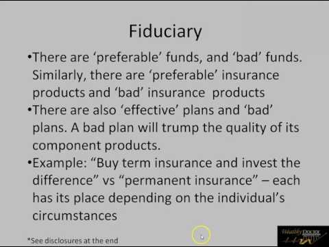 Strategy Update 5/31/2017 - What is a 'fiduciary'?