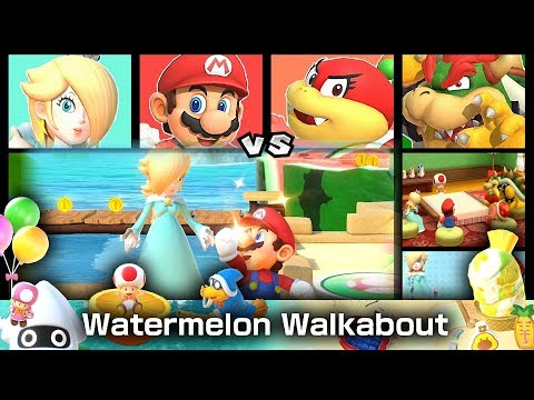Super Mario Party Watermelon Walkabout ◆ Rosalina and Mario VS Pom Pom and Bowser #3