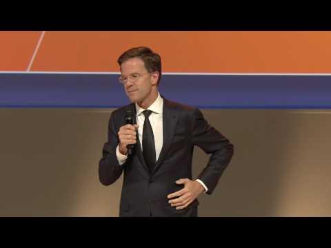 Mark Rutte spreekt op het VVD voorjaarscongres 2016