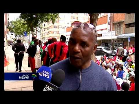 A group of domestic workers gathered in Pretoria, to highlight their plight.