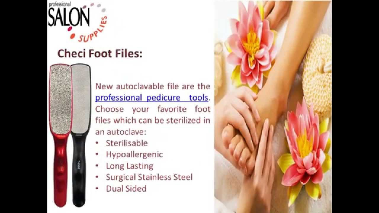 Checi Professional Foot Files For Your Salon - YouTube