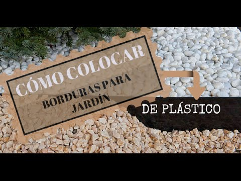 C mo colocar borduras para jard n de pl stico flexible for Baules de plastico para jardin