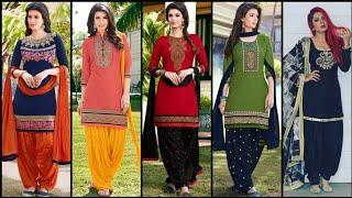 Most Beautiful Stylish And Outstanding Patiala Salwar Suit Design /Punjabi Dress Design Collection
