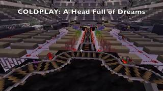 coldplay ahfod concert at metlife stadium in minecraft